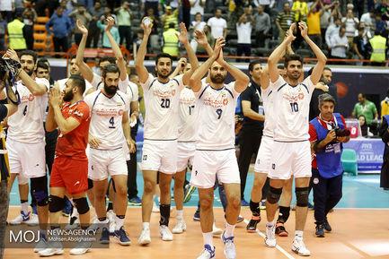 دیدار تیمهای ملی ایران و بلژیک در لیگ جهانی والیبال