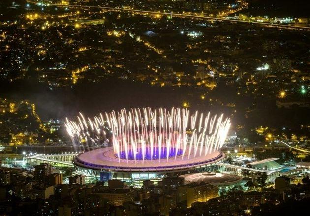 تست آتشبازی افتتاحیه المپیک در ماراکانا + تصاویر