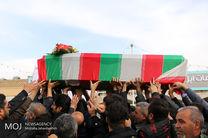 تشییع پیکر دو شهید مرزبانی در میناب