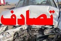 یک کشته و 2 مجروح در تصادف پراید با کامیون در محور سیمان سپاهان- پیربکران