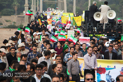 راهپیمایی روز ۱۳ آبان در اهواز