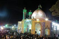 میزبانی از بیست هزار زائر در شبهای قدر در حرم  مطهر حضرت زینب بنت موسی بن جعفر اصفهان