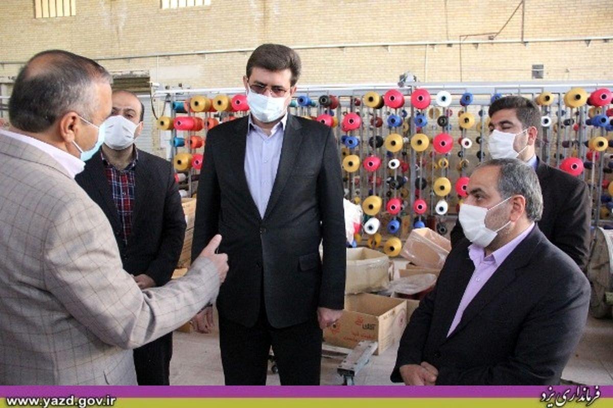 بازدید فرماندار یزد از برخی محلات و نشست مردمی