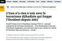روزنامه فرانسوی لوموند: ایران هیچ ارتباطی با تروریسم ندارد