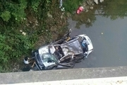 ۴ کشته درپی سقوط پژو به داخل رودخانه
