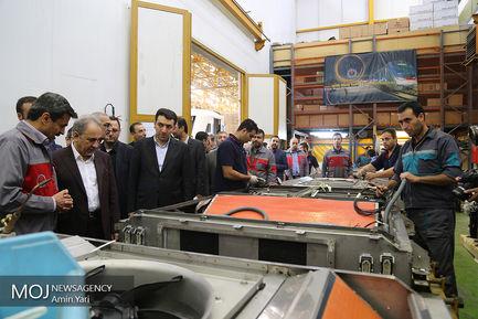 بازديد از كارخانه واگن سازی با حضور محمدعلی نجفی شهردار تهران