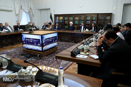 جلسه ستاد مدیریت بحران کشور به ریاست حسن روحانی