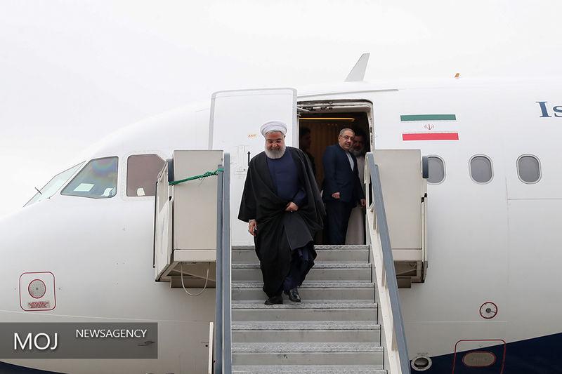 روحانی وارد سیستان و بلوچستان شد