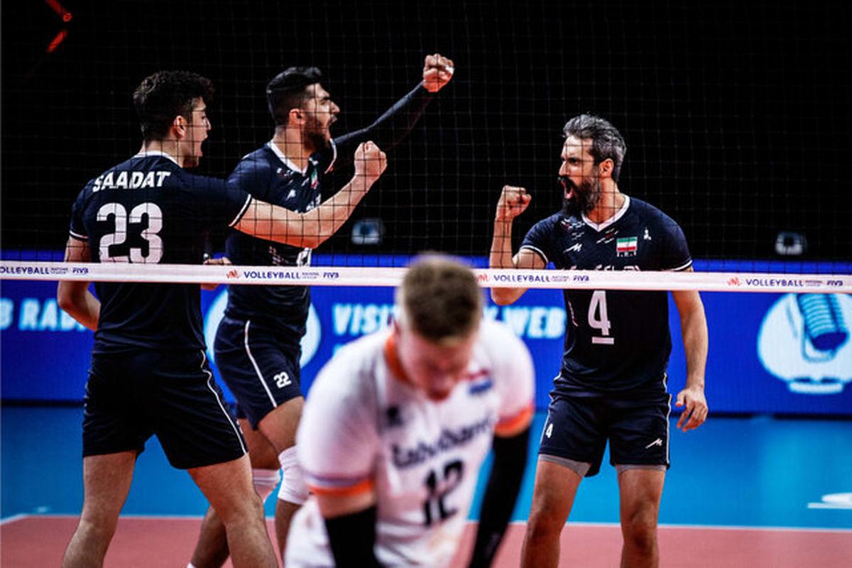 نتیجه بازی والیبال ایران و هلند/ اولین پیروزی ایران در روز بازگشت معروف