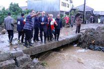 گزارش اقدامات انجام شده در مناطق آب گرفته گیلان به وزیر کشور