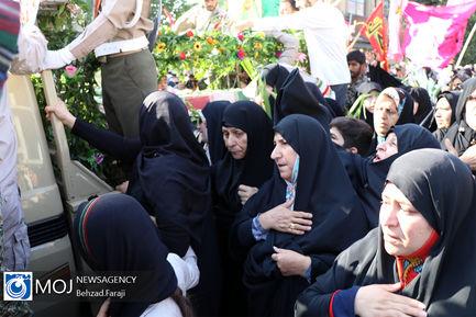 تشییع پیکر شهید دوران دفاع مقدس حسین ادبیان در کرمانشاه