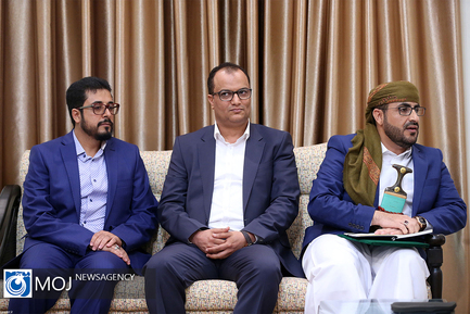 دیدار سخنگوی جنبش انصار الله یمن با مقام معظم رهبری