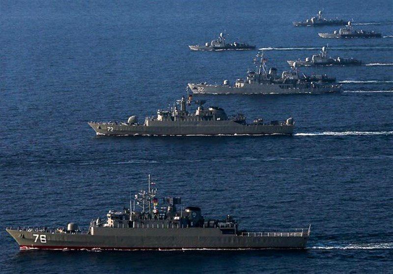 رژه ناوهای نیروی دریایی ارتش در خلیج فارس
