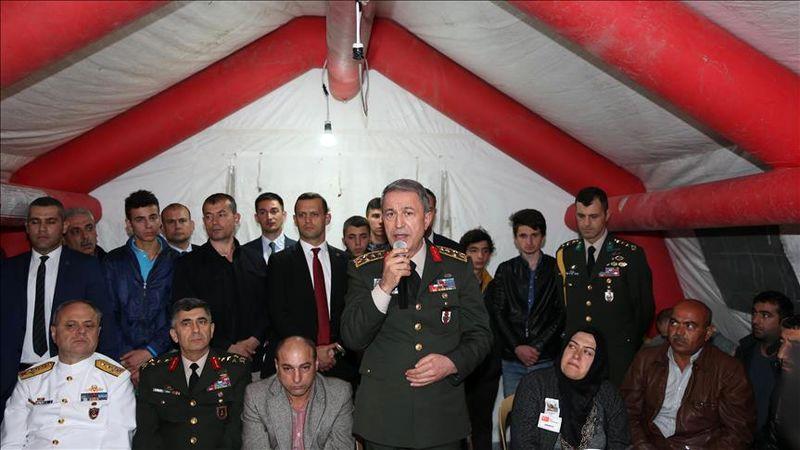 ادعای تازه رئیس ستاد ارتش ترکیه در مبارزه با تروریسم