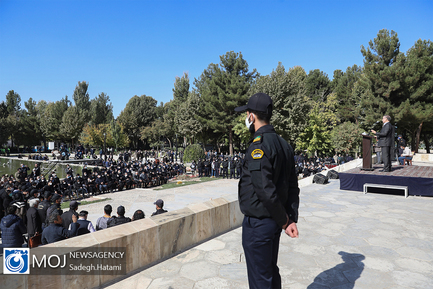 تدفین پیکر استاد محمدرضا شجریان در آرامگاه فردوسی