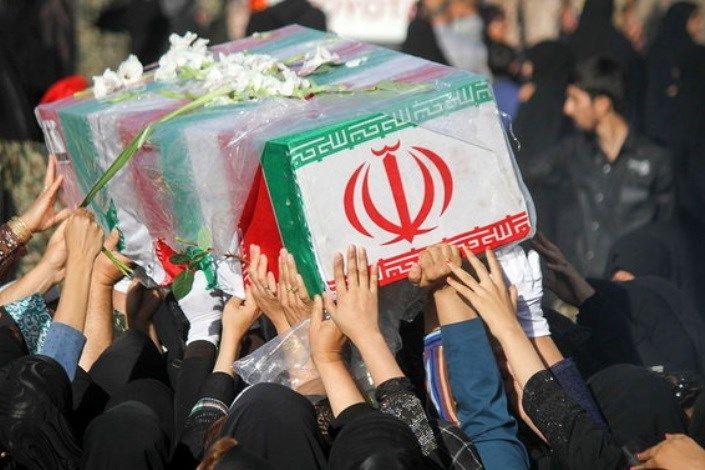 پیکر شهید تازه تفحص شده در کاشان تشییع شد
