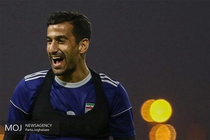 آخرین تمرین آماده سازی تیم ملی فوتبال کشورمان قبل از دیدار با تیم ملی چین/احسان حاج صفی