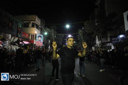 عزاداری شب پنجم ماه محرم در محله گرگان