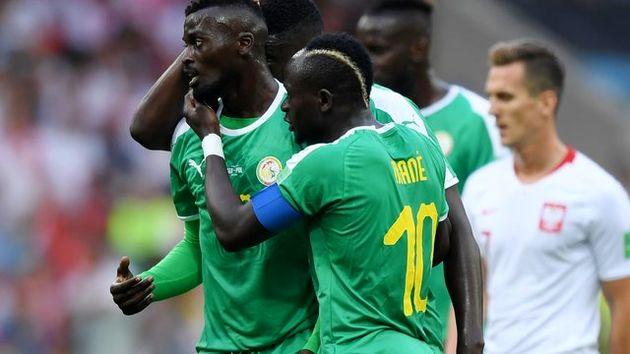 برتری سنگال مقابل لهستان در نیمه نخست