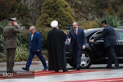 استقبال رسمی رییس جمهوری از نخست وزیر ارمنستان