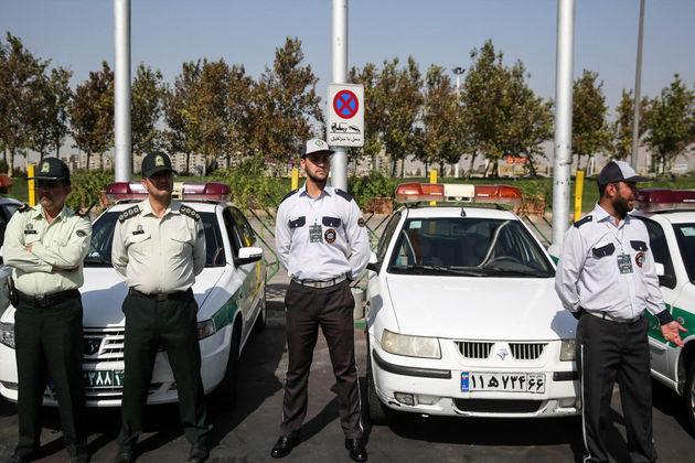 برگزاری مانور خودرویی یگان های ستاد نوروزی در گلپایگان