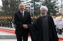 استقبال رسمی روحانی از رئیس جمهوری آذربایجان