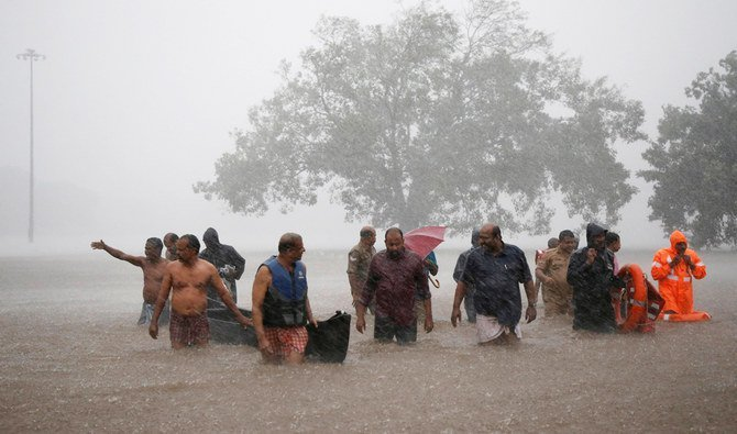 floods in India killed Over 100 and displaced millions