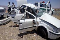 یک کشته و 3 مصدوم در واژگونی سواری سمند در محور کاشان- قم