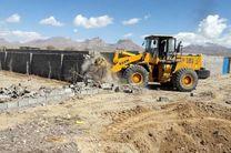تخریب 47 کاربری غیر مجاز اراضی کشاورزی در اصفهانک