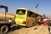 تصادف مرگبار اتوبوس و تریلر در محور میمه - دلیجان / یک کشته و 18 مصدوم