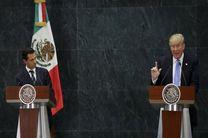 جدال پس از دیدار ترامپ با رییس جمهور مکزیک