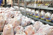 عرضه گوشت مرغ گرم در بازار هرمزگان