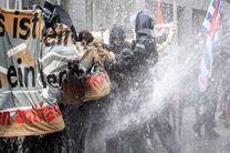 برخورد خشن پلیس انگلیس و آلمان با معترضان به محدودیتهای کرونایی