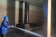 شستشوی630 هزار متر مکعب مخازن آب در استان اصفهان