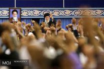 دیدار هزاران نفر از اقشار مختلف مردم قم با مقام معظم رهبری