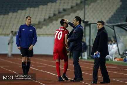 دیدار تیم های فوتبال پرسپولیس ایران و نسف قارشی ازبکستان