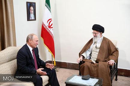 دیدار رییسجمهوری روسیه با مقام معظم رهبری