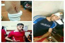 درگیری خونین در بازی لیگ دسته 2 فوتبال ایران