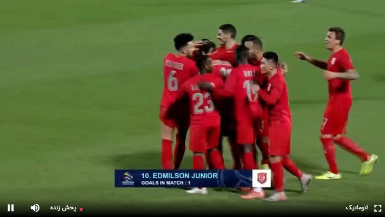 نتیجه بازی الدحیل قطر و پرسپولیس در نیمه نخست