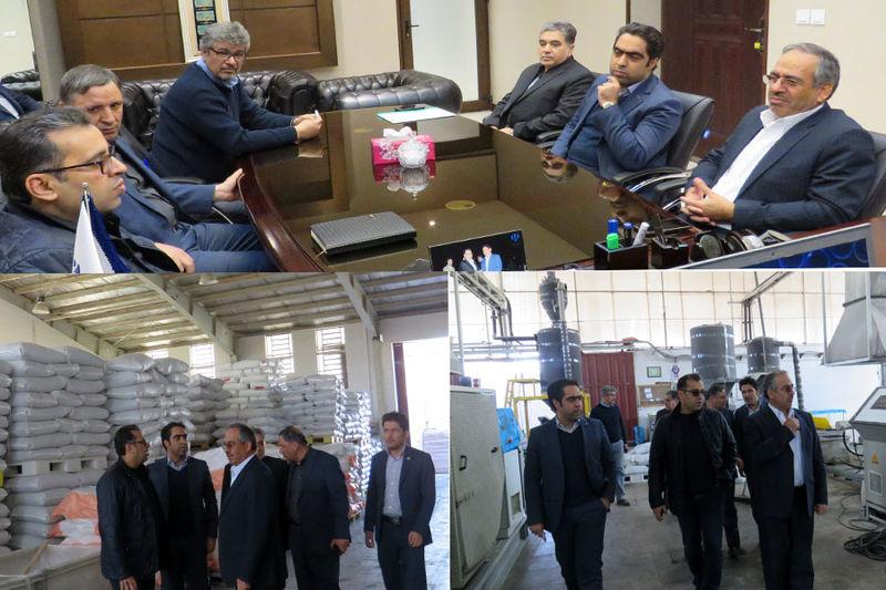 بازدید مدیران استانی بانک ایران زمین از شرکت گرانول مروارید