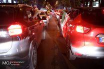 شادی مردم در خیابان های تهران پس از برد مقابل مراکش در رقابت های جام جهانی فوتبال 2018