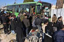اتوبوس های انتقال افراد مسلح وارد ریف دمشق می شوند