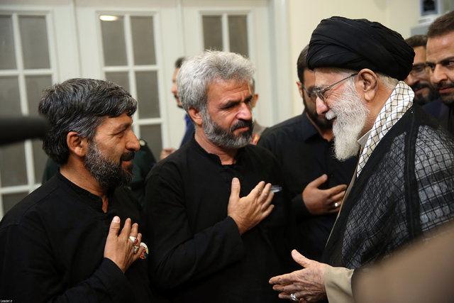دیدار خانواده شهید حججی با رهبر انقلاب