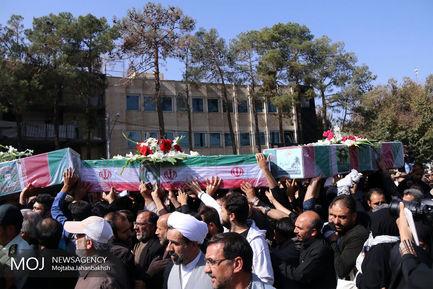 مراسم تشییع شهدا در گلستان شهدای اصفهان