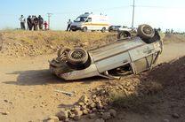یک کشته و ۳ مجروح در حادثه واژگونی پراید