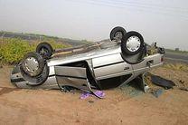 واژگونی خودرو جان یک نفر را گرفت