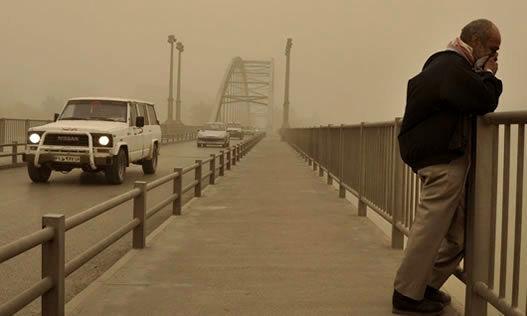 هشت شهر خوزستان درگیر هوای ناسالم است