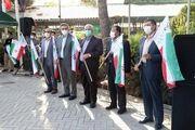 تعویض پرچم مزار شهدای بهشت زهرا (س) در هفته دفاع مقدس