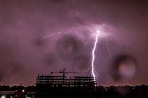 پیش بینی وقوع رگبار و رعد و برق و وزش باد نسبتاً شدید از فردا