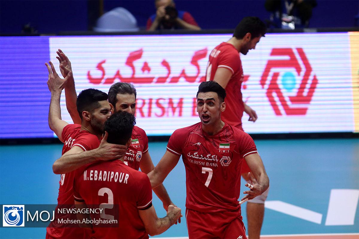نتیجه بازی والیبال ایران و آمریکا/ پیروزی قاطع ایران مقابل آمریکا